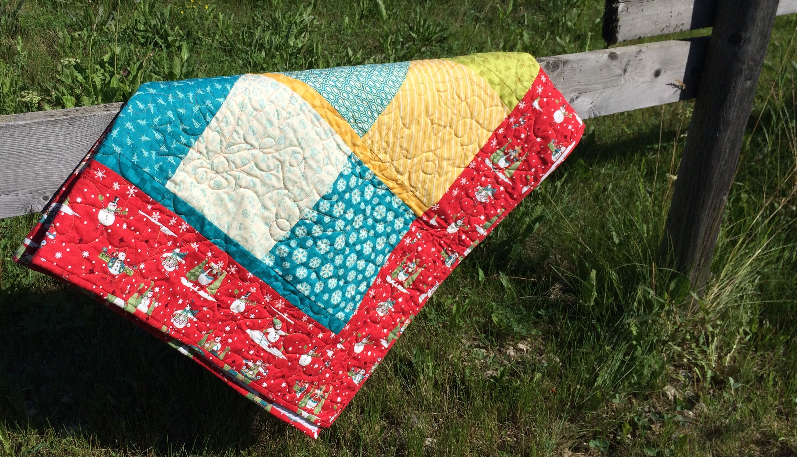 size of twin quilt finished
